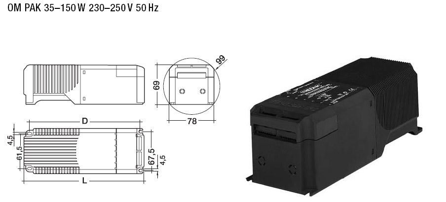 Magnetische Vorschaltgeräte für Metalldampflampen 35W - 1000W ...