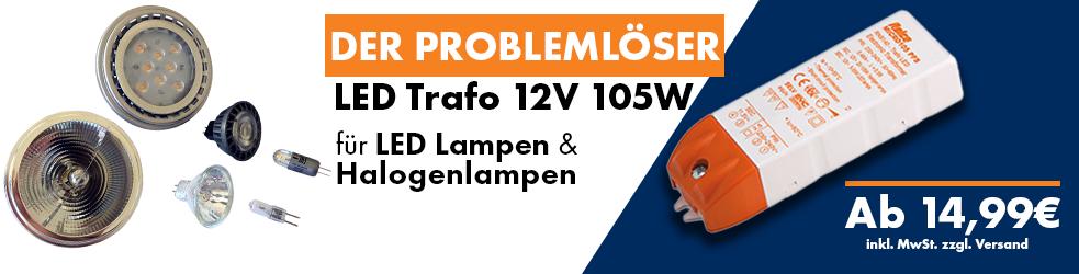 LED Trafo 12V 105W für LED Lampen und Halogenlampen