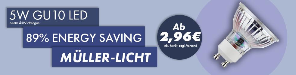 5W GU10 LED Müller-Licht